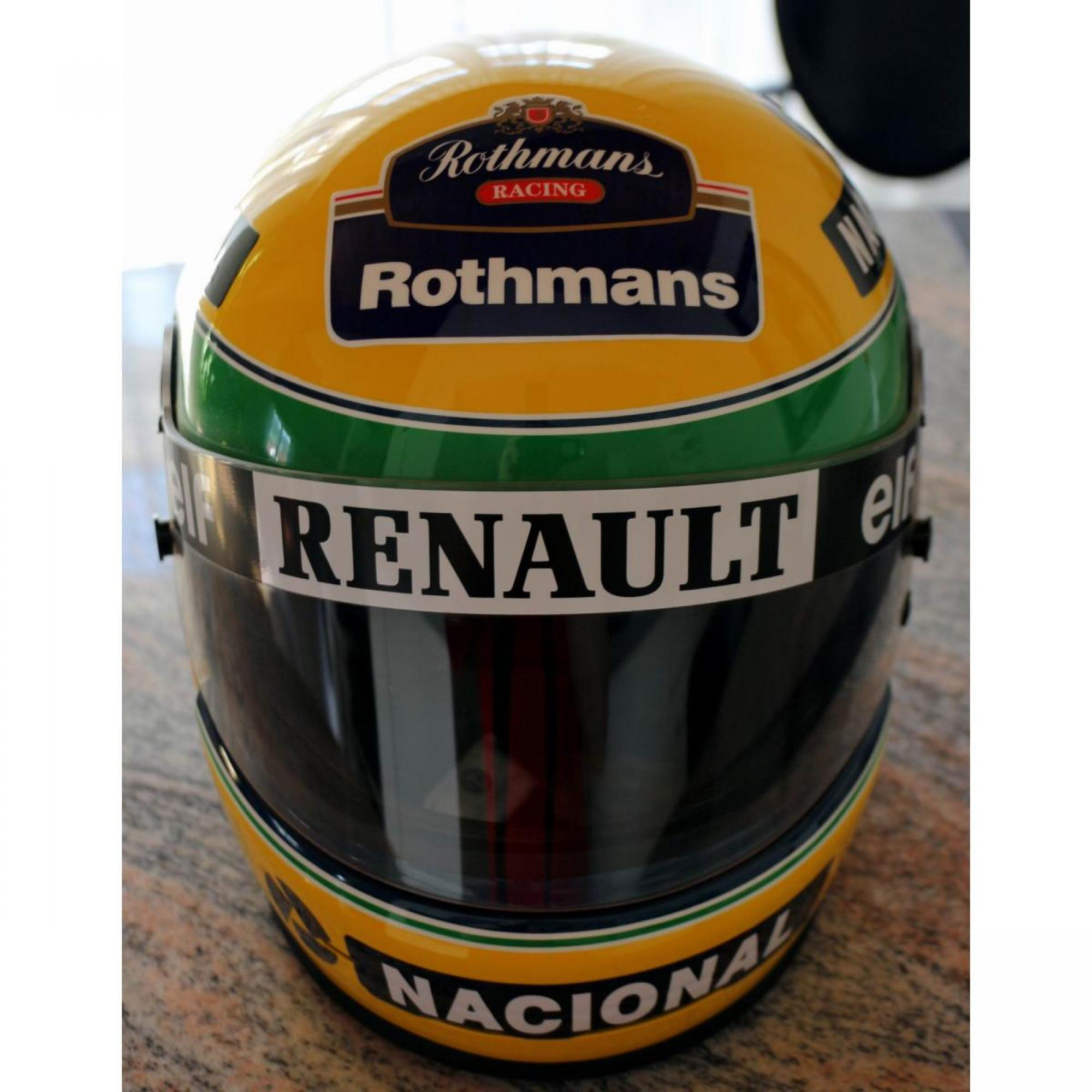 ayrton senna williams renault helm fahrer helme replica. Black Bedroom Furniture Sets. Home Design Ideas