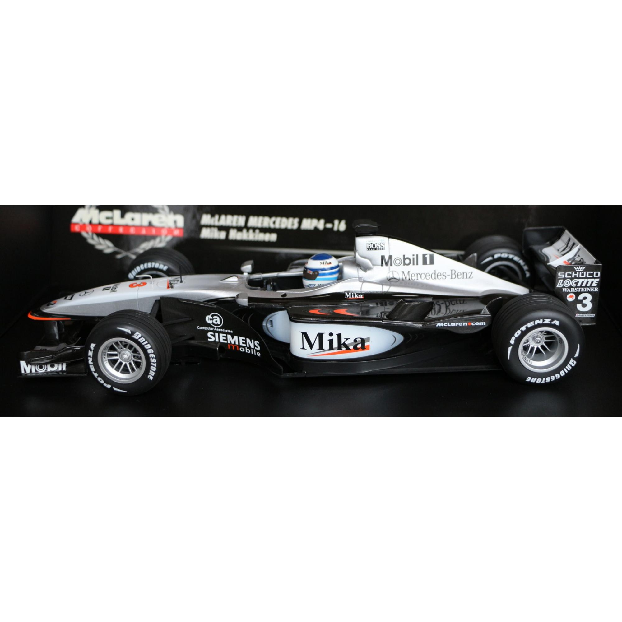 formel 1 mclaren mp4 16 mika hakkinen 1 18 formel 1. Black Bedroom Furniture Sets. Home Design Ideas