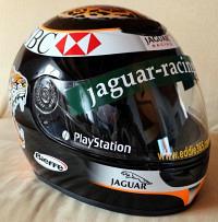Eddie Irvine Jaguar-Helm